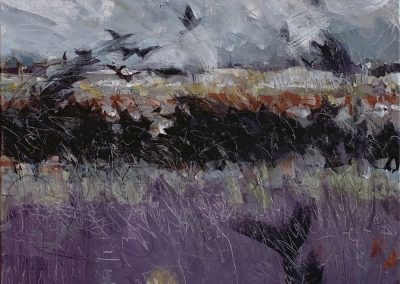 Black Cloud Purple Field